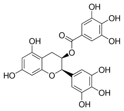 图片 (-)-表没食子儿茶素没食子酸酯,(−)-Epigallocatechin gallate [EGCG];≥95.0%