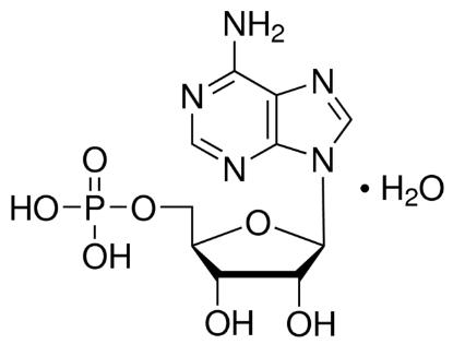 图片 腺苷-5'-单磷酸一水合物,Adenosine 5′-monophosphate [5′-AMP];from yeast, ≥97%
