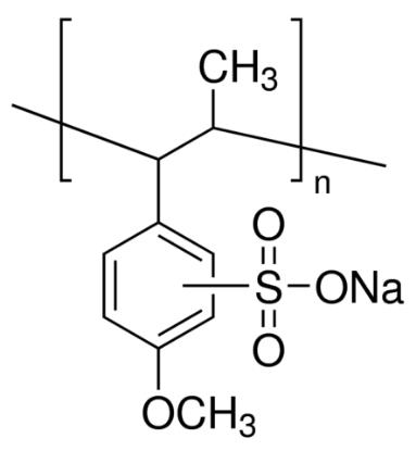 图片 聚茴香醚磺酸钠盐 [聚茴香磺酸钠],Polyanetholesulfonic acid sodium salt;powder