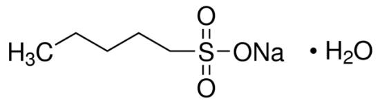 图片 正戊烷磺酸钠一水合物,Sodium 1-pentanesulfonate monohydrate;≥98.0% (T)