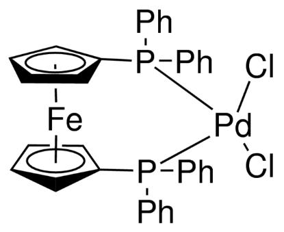 图片 [1,1′-双(二苯基膦)二茂铁]二氯化钯(II),[1,1′-Bis(diphenylphosphino)ferrocene] dichloropalladium(II) [Pd(dppf)Cl2];≥99%