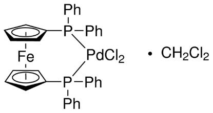 图片 [1,1′-双(二苯基膦)二茂铁]二氯化钯(II)二氯甲烷络合物,[1,1′-Bis(diphenylphosphino)ferrocene] dichloropalladium(II), complex with dichloromethane