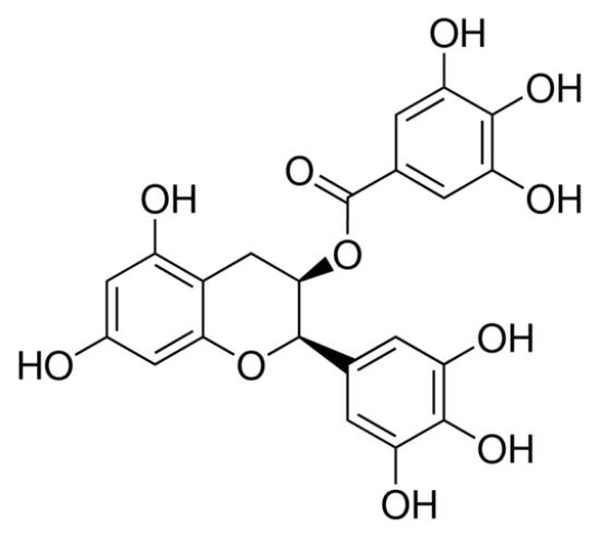 图片 (-)-表没食子儿茶素没食子酸酯,(−)-Epigallocatechin gallate [EGCG];analytical standard, ≥98.0% (HPLC)
