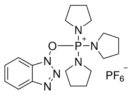 图片 1H-苯并三唑-1-基氧三吡咯烷基六氟磷酸盐,(Benzotriazol-1-yloxy) tripyrrolidinophosphonium hexafluorophosphate [PyBOP];purum, ≥97.0% (TLC)