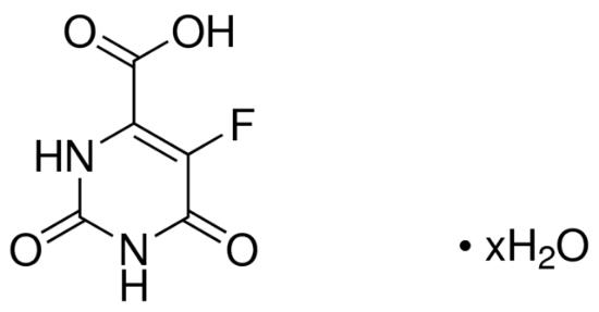 图片 5-氟乳清酸水合物,5-Fluoroorotic acid hydrate;≥99.0% (TLC)
