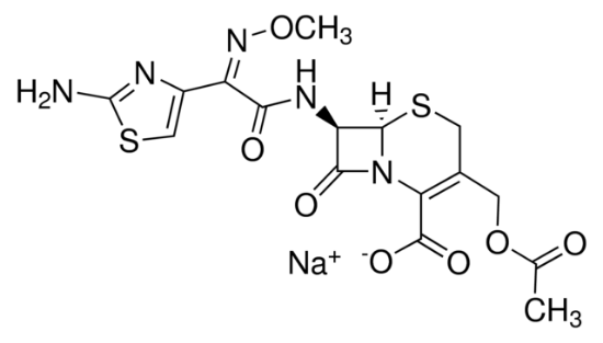 图片 头孢噻肟钠盐 [噻孢霉素],Cefotaxime sodium salt;potency: 916-964 μg per mg