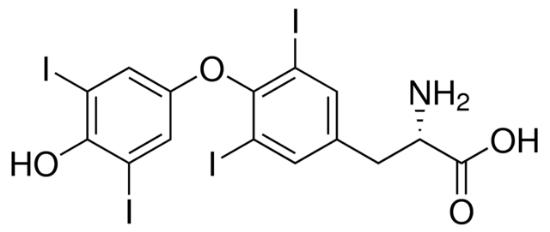 图片 L-甲状腺素,L-Thyroxine [T4];≥98% (HPLC)