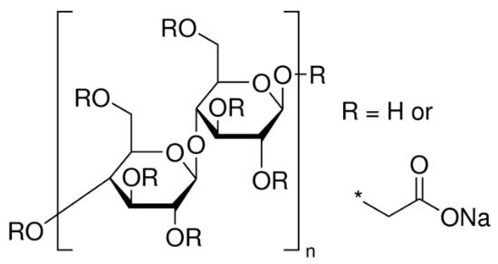 图片 羧甲基纤维素钠 [CMC],Sodium carboxymethyl cellulose;average Mw ~700,000