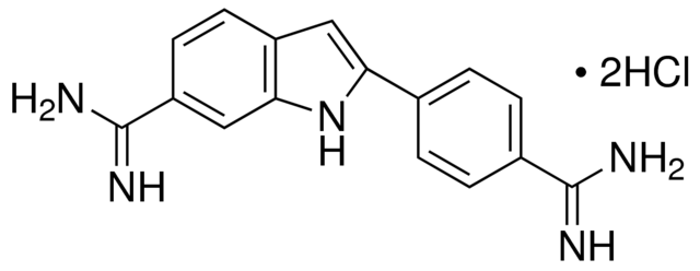 图片 4',6-二脒基-2-苯基吲哚二盐酸盐,4′,6-Diamidino-2-phenylindole dihydrochloride [DAPI];BioReagent, suitable for fluorescence, ≥95.0% (HPLC)