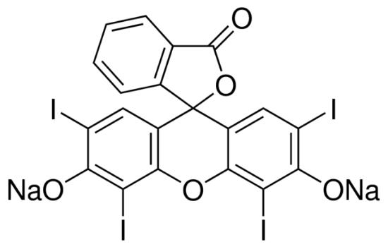 图片 四碘荧光素钠盐 [赤藓红B, 曙红B],Erythrosin extra bluish [Erythrosin B];for microscopy (Bact., Hist.), adsorption and fluorescent indicator