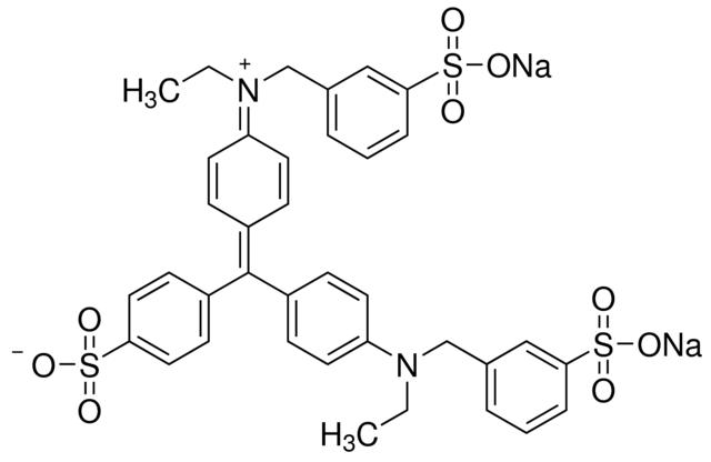 图片 亮绿SF (淡黄),Light green SF yellowish (C.I. 42095);for microscopy Certistain®, Dye, ≥75% spectrophotometric assay
