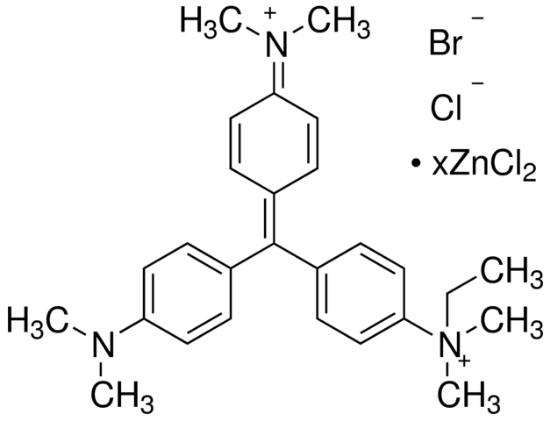 图片 甲基绿氯化锌盐,Methyl Green;zinc chloride salt, <0.5% crystal violet, Dye content 80%