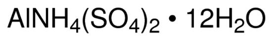 图片 硫酸铵铝十二水合物,Ammonium aluminum sulfate dodecahydrate;ACS reagent, ≥98%