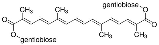 图片 藏花素 [西红花苷],Crocin;for microscopy