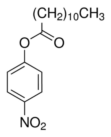 图片 4-硝基苯基十二酸酯,4-Nitrophenyl dodecanoate;≥98.0% (GC)