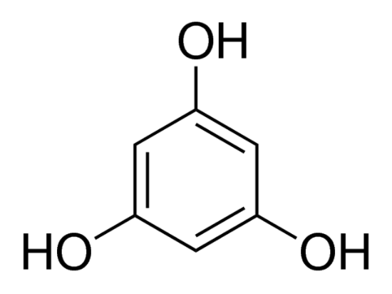 图片 间苯三酚,Phloroglucinol;Used to detect the presence of wood fiber.