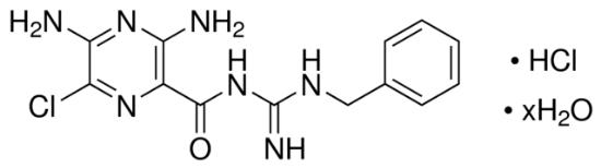 图片 苯扎咪盐酸盐水合物,Benzamil hydrochloride hydrate;≥98% (HPLC)