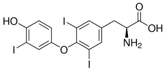 图片 3,3′,5-三碘代-L-甲状腺原氨酸,3,3′,5-Triiodo-L-thyronine [T3];≥95% (HPLC), powder