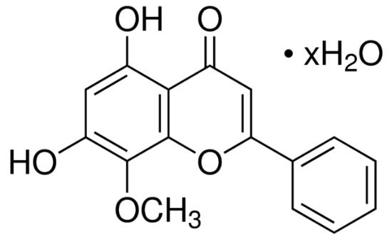 图片 汉黄芩素水合物,Wogonin hydrate;≥98% (HPLC), solid