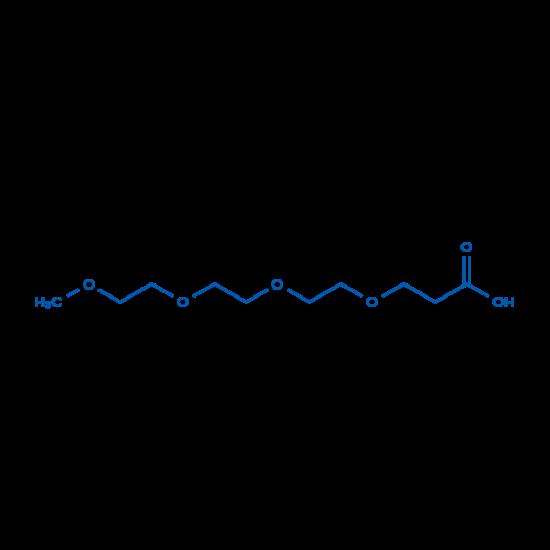 图片 2,5,8,11-四氧杂十四烷-14-酸,2,5,8,11-Tetraoxatetradecan-14-oic acid [m-PEG3-CH2CH2COOH];≥98%