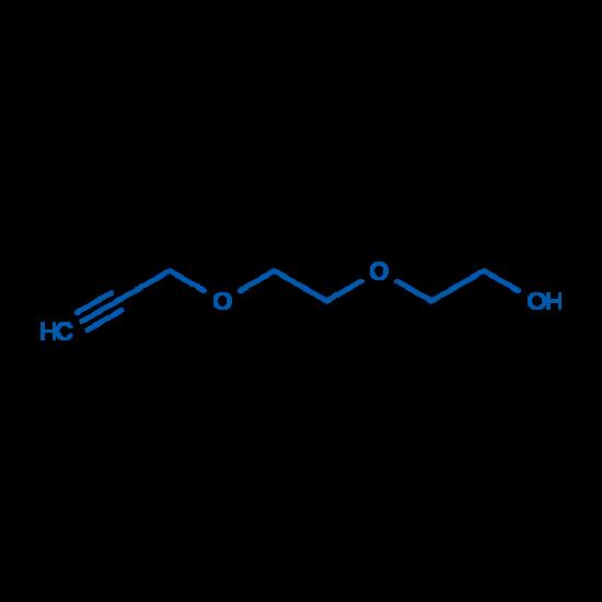 图片 2-[2-(2-丙炔氧基)乙氧基]乙醇,2-[2-(2-Propynyloxy)ethoxy]ethanol;≥98%