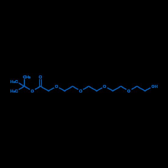 图片 14-羟基-3,6,9,12-四氧杂十四烷-1-羧酸叔丁酯,tert-Butyl 14-hydroxy-3,6,9,12-tetraoxatetradecan-1-oate;98%