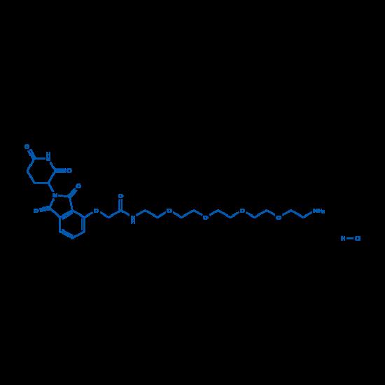 图片 N-(14-氨基-3,6,9,12-四氧杂十四烷基)-2-((2-(2,6-二氧代哌啶-3-基)-1,3-二氧代异吲哚啉-4-基)氧基)乙酰胺盐酸盐,N-(14-Amino-3,6,9,12-tetraoxatetradecyl)-2-((2-(2,6-dioxopiperidin-3-yl)-1,3-dioxoisoindolin-4-yl)oxy)acetamide hydrochloride;98%