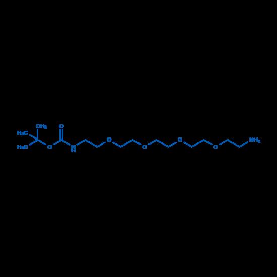 图片 16-氨基-5,8,11,14-四氧杂-2-氮杂十六烷酸1,1-二甲基乙酯,tert-Butyl (14-amino-3,6,9,12-tetraoxatetradecyl)carbamate;98%
