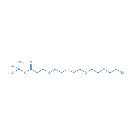 图片 1-氨基-3,6,9,12-四氧杂十五烷-15-酸叔丁酯,tert-Butyl 1-amino-3,6,9,12-tetraoxapentadecan-15-oate;98%