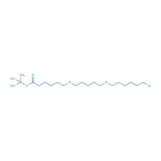 图片 6-((5-((6-氯己基)氧基)戊基)氧基)己酸叔丁酯,tert-Butyl 6-((5-((6-chlorohexyl)oxy)pentyl)oxy) hexanoate;99%