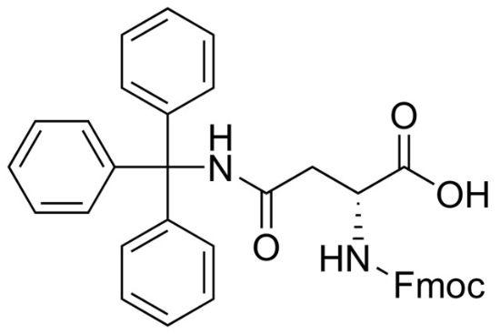 图片 Fmoc-N'-三苯甲基-D-天冬酰胺,Fmoc-D-Asn(Trt)-OH;97%