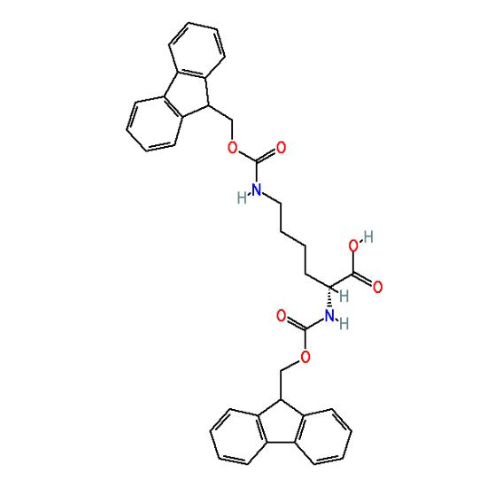 图片 N,N'-二芴甲氧羰基-D-赖氨酸,Fmoc-D-Lys(Fmoc)-OH;98%