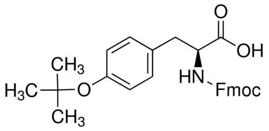 图片 Fmoc-O-叔丁基-L-酪氨酸,Fmoc-Tyr(tBu)-OH;≥98.0% (HPLC)