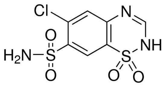 图片 氯噻嗪,Chlorothiazide;thiazide diuretic, ≥98% (HPLC)