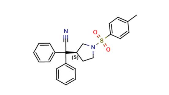 图片 (S)-1-对甲基磺酰基-3-吡咯烷,(3S)-1-Tosyl-alpha,alpha-Diphenyl-3-Pyrrolidineacetonitrile;≥98%