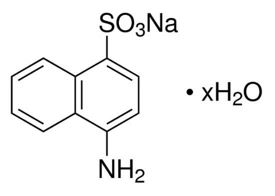 图片 4-萘胺-1-磺酸钠盐水合物,4-Amino-1-naphthalenesulfonic acid sodium salt hydrate;technical