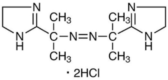 图片 2,2''-氮杂双(2-咪唑啉)二盐酸盐,2,2'-Azobis[2-(2-imidazolin-2-yl)propane] Dihydrochloride;≥99.0%(HPLC)