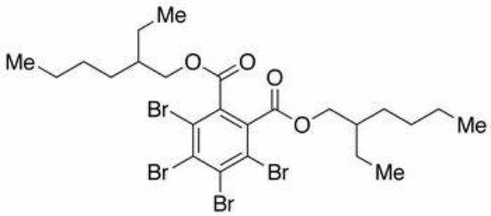 图片 3,4,5,6-四溴-1,2-苯甲酸二(2-乙基)己酯,Bis(2-ethylhexyl) 3,4,5,6-tetrabromophthalate;97%