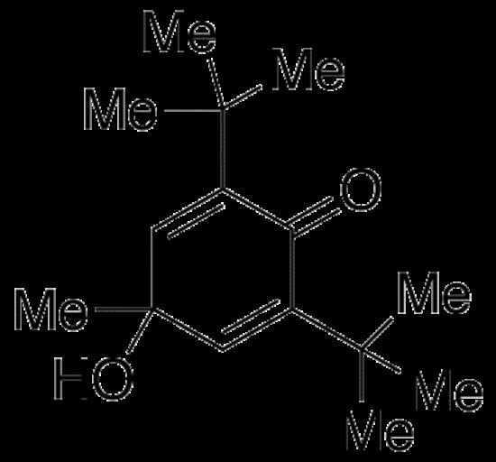 图片 2,6-二(叔丁基)-4-羟基-4-甲基-2,5-环己二烯-1-酮;2,6-Di(tert-butyl)-4-hydroxy-4-methyl-2,5-cyclohexadien-1-one