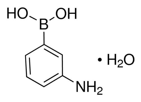 图片 3-氨基苯硼酸一水合物,3-Aminophenylboronic acid monohydrate [3-APBA.H2O];98%