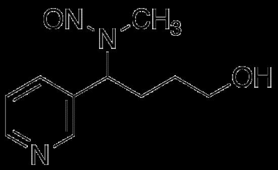 图片 4-(N-甲基-N-亚硝胺)-4-(3-吡啶基)丁醇,4-(N-Methyl-N-nitrosamino)-4-(3-pyridyl)butane-1-ol