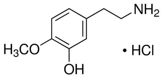 图片 3-羟基-4-甲氧基苯乙胺盐酸盐,3-Hydroxy-4-methoxyphenethylamine hydrochloride;≥98%