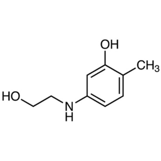 图片 5-(2-羟乙基)氨基邻甲苯酚,5-(2-Hydroxyethyl)amino-o-cresol;≥99%