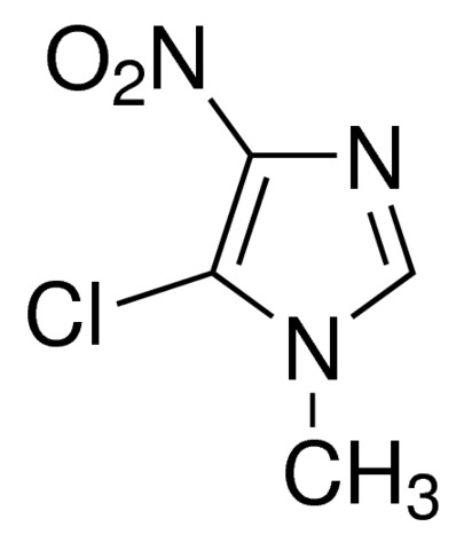 图片 5-氯-1-甲基-4-硝基咪唑,5-Chloro-1-methyl-4-nitroimidazole [CMNI];98%