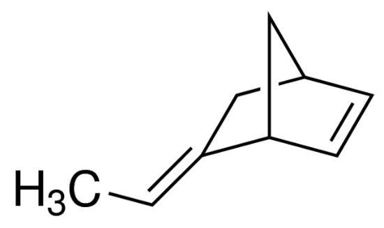 图片 5-亚乙基-2-降冰片烯,5-Ethylidene-2-norbornene;contains 100-200 ppm BHT as inhibitor, mixture of endo and exo, 99%